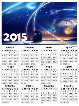 calendario annuale con tema fantastico 2015