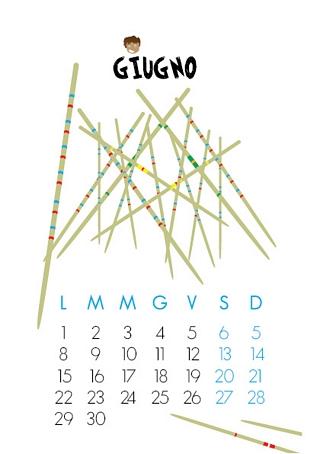 calendario 2015 mese di Giugno