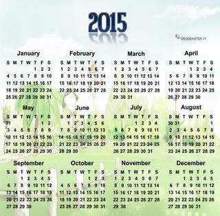 immagine del calendario 2015