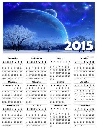 calendario annuale 2015