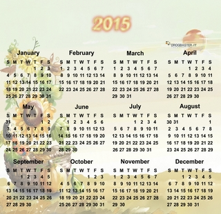 Calendari mensili 2015 da scaricare gratis