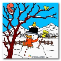 Paesaggio con Pupazzo di Neve