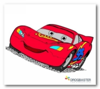 The Cars disegno colorato