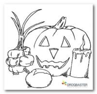 colorare la Zucca di Halloween