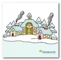 Colora online il paesaggio di Natale
