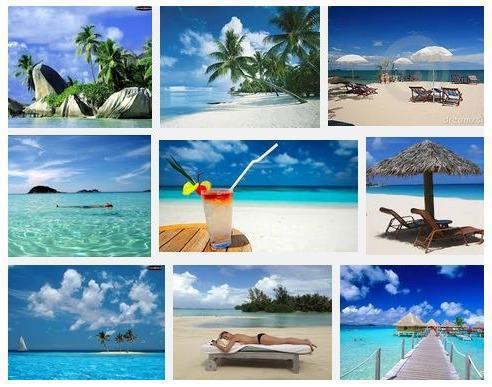 Mosaico di spiagge Tropicali