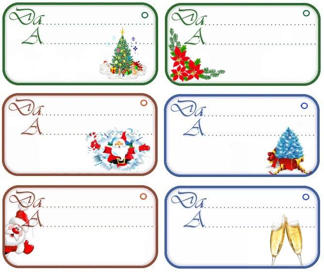 Etichette Per Regali Di Natale Da Stampare.Etichette Chiudipacco Regali Di Natale Da Stampare Gratis