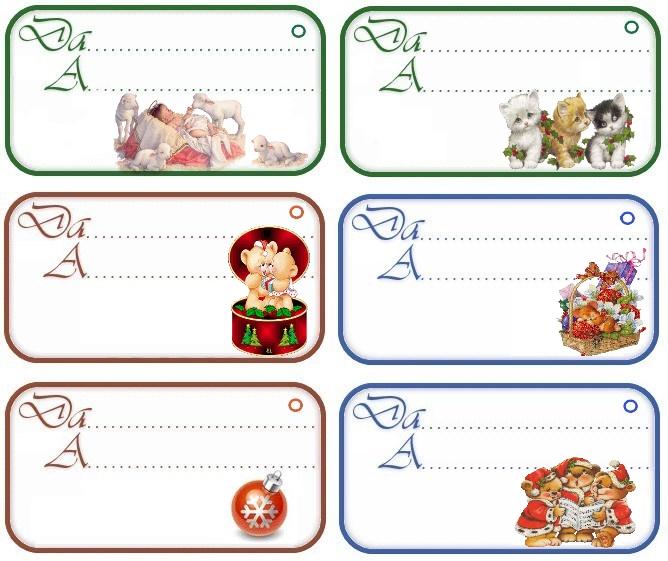 abbastanza Chiudipacco Etichette fai da te da stampare per regali di Natale UD72