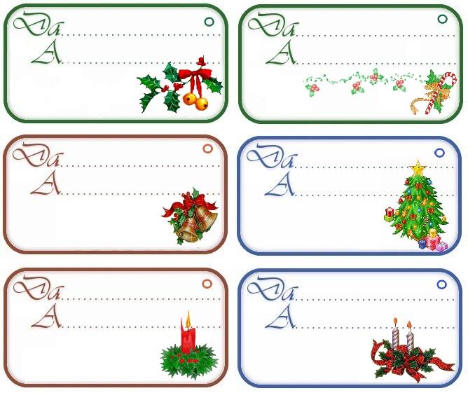 spesso Stampa Etichette colorate per i regali di Natale LL13