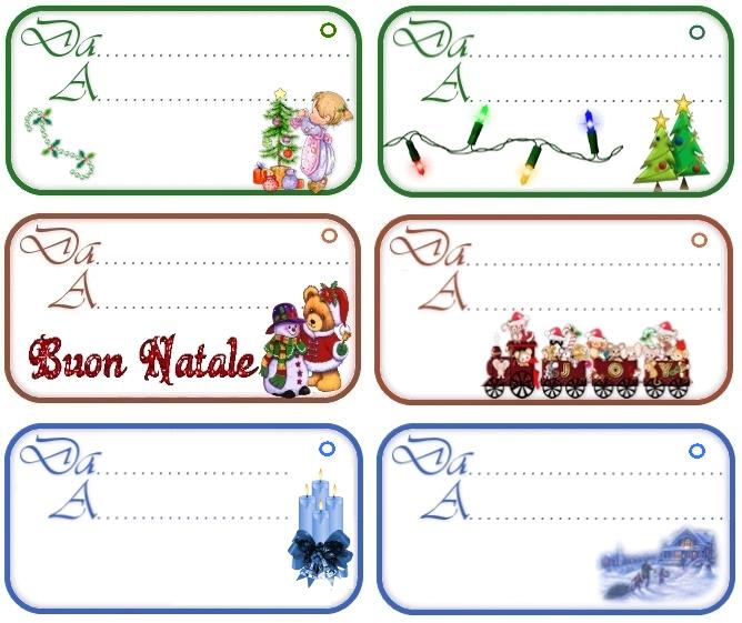 Biglietti Per Regali Di Natale Da Stampare.Etichette Chiudipacco Regali Di Natale Da Stampare Gratis