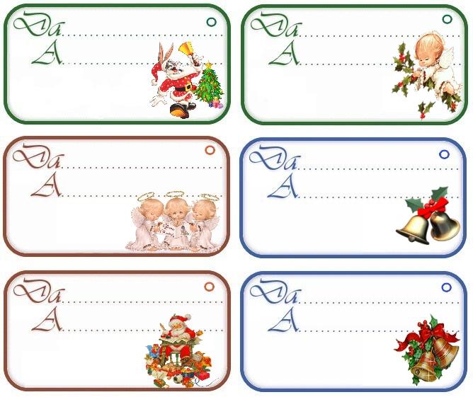 Lavoretti Di Natale Gratis.Stampa Etichette Colorate Per I Regali Di Natale