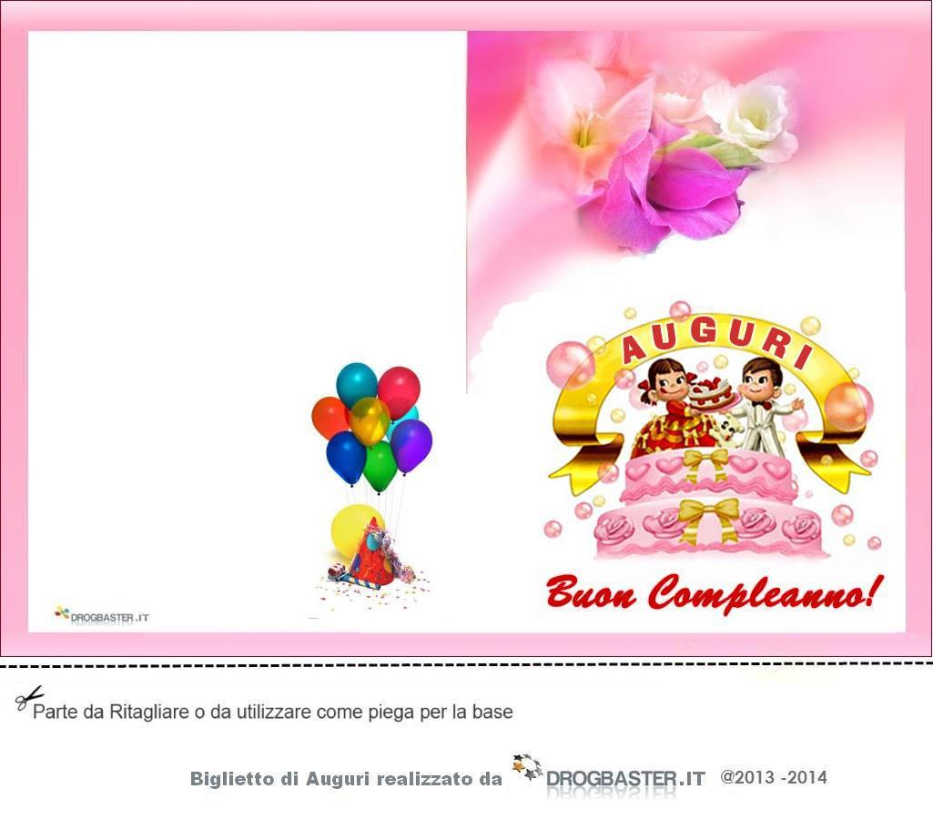 spesso Biglietto da stampare gratis in occasione del compleanno MA84
