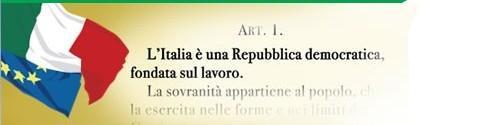Italia è una Repubblica democratica fondata sul lavoro