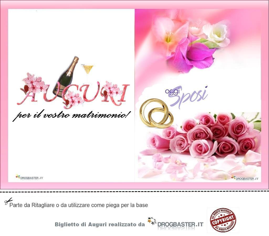 Auguri Per Un Matrimonio Immagini : Biglietto da stampare gratis in occasione matrimonio