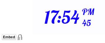 orologio digitale con sfondo colore Bianco