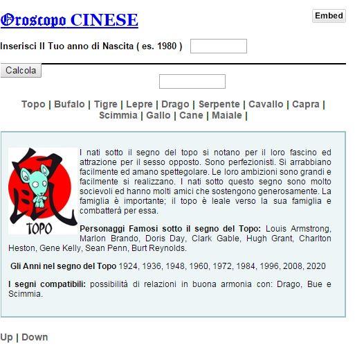 Calendario Oroscopo.Oroscopo Cinese Calcola Il Segno Zodiacale