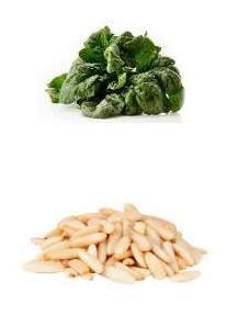 ricetta con pinoli e spinaci