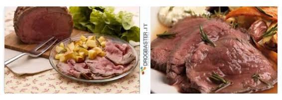 roast beef serviti nel piatto