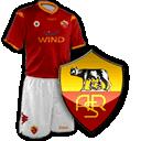 maglia e logo Roma