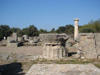 rovine del tempio di Zeus