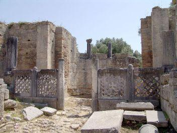 scavi archeologici del tempio di Zeus