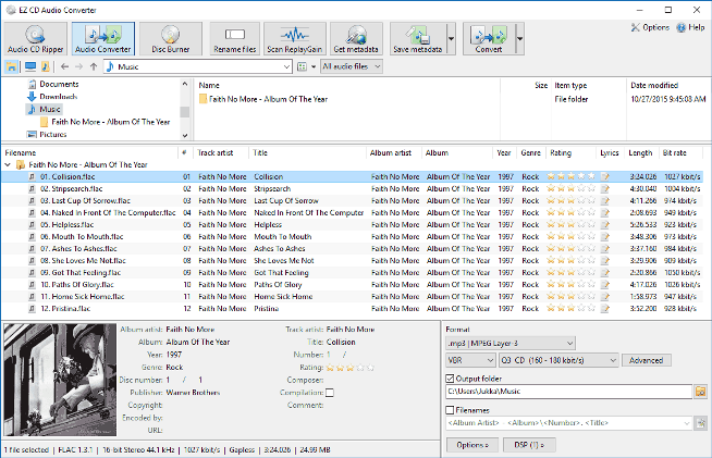 Conversione MP4 in MP3