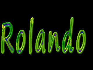 Scritta Nome Rolando