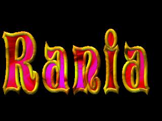 Scritta Rania