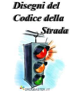 Disegni del codice della strada segnaletica stradale for Codice fiscale da stampare