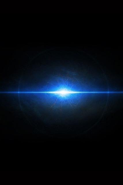astratto pianeta in esplosione blu