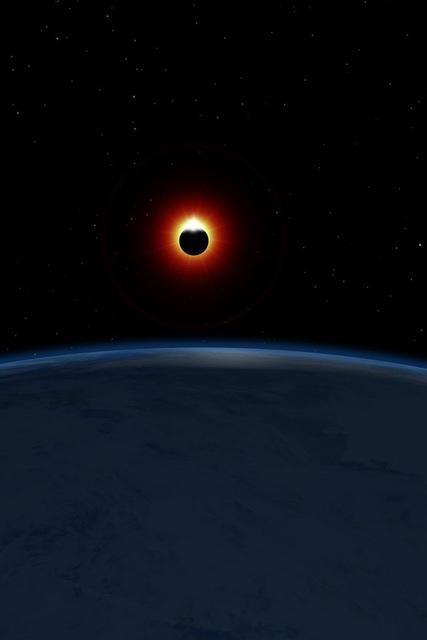 eclissi con superficie terrestre