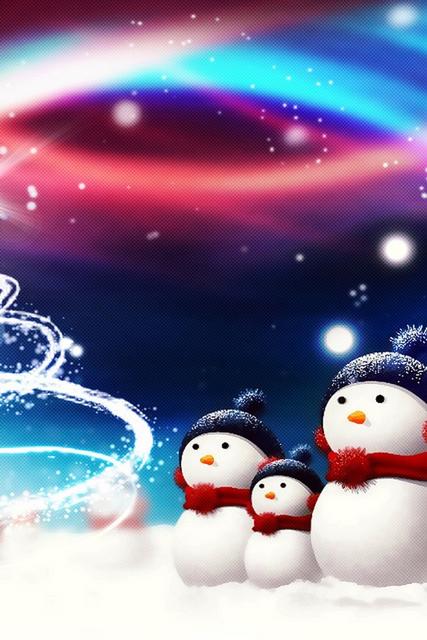 pupazzi di neve sfono natalizio
