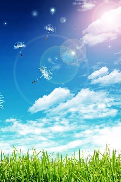 prato cielo nuvole luce