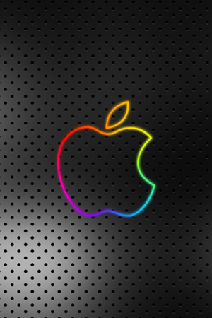 sfondo scuro con logo apple