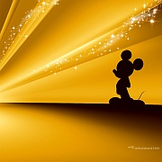 Wallpaper Mickey Mouse Disney Gold