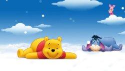 sfondo di cartoni animati per bambini con winnie the pooh