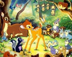 bambi nella foresta