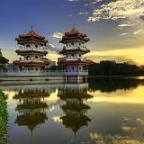 Sfondo Hd Cina pagode laghi