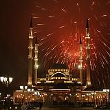 Grozny Cecenia fuochi artificio