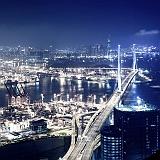 Immagine di Hong Kong luci notturne