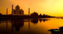 India Tramonto Taj Mahal