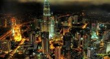 Kuala Lumpur Malaysia metropoli notturna