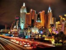 Panorama Las Vegas di notte