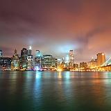 Manhattan notte ponte Brooklyn