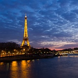 Parigi Francia notte foto della Torre Eiffel
