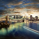 Usa Stati Uniti New York Brooklyn Bridge