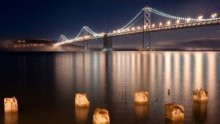 bridge fiume notte