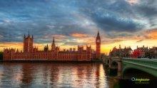 Londra Big Ben di notte palazzo di Westminster