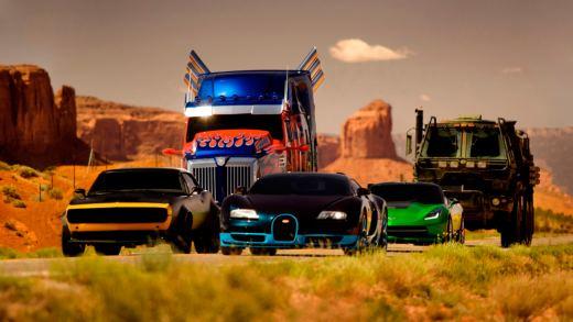 Transformers 4 - L'era dell'estinzione Autobot: Hound, Bumblebee, Optimus Prime