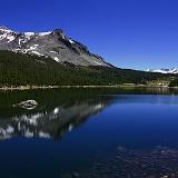 Paesaggio lago montagna